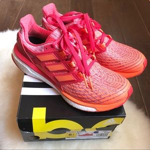 Adidas ENERGY BOOST Coral Red Ultra Pink White 8.5